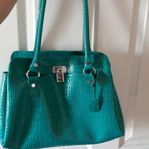Like new LC turquoise purse!